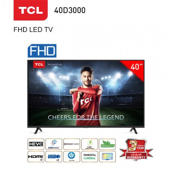 TCL TV - 43 Inch - 40D3000